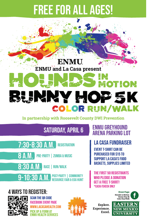 hounds in montion bunny hop 5k