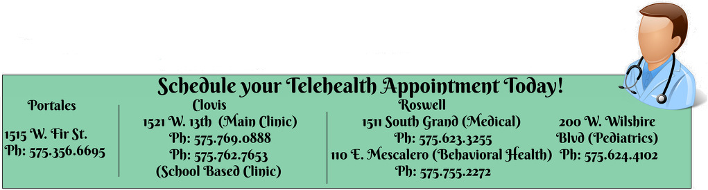 schedule TELEHEALTH APPOINTMENTS